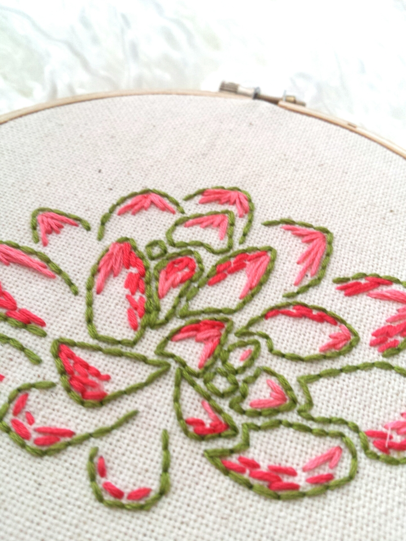 Succulent Embroidery