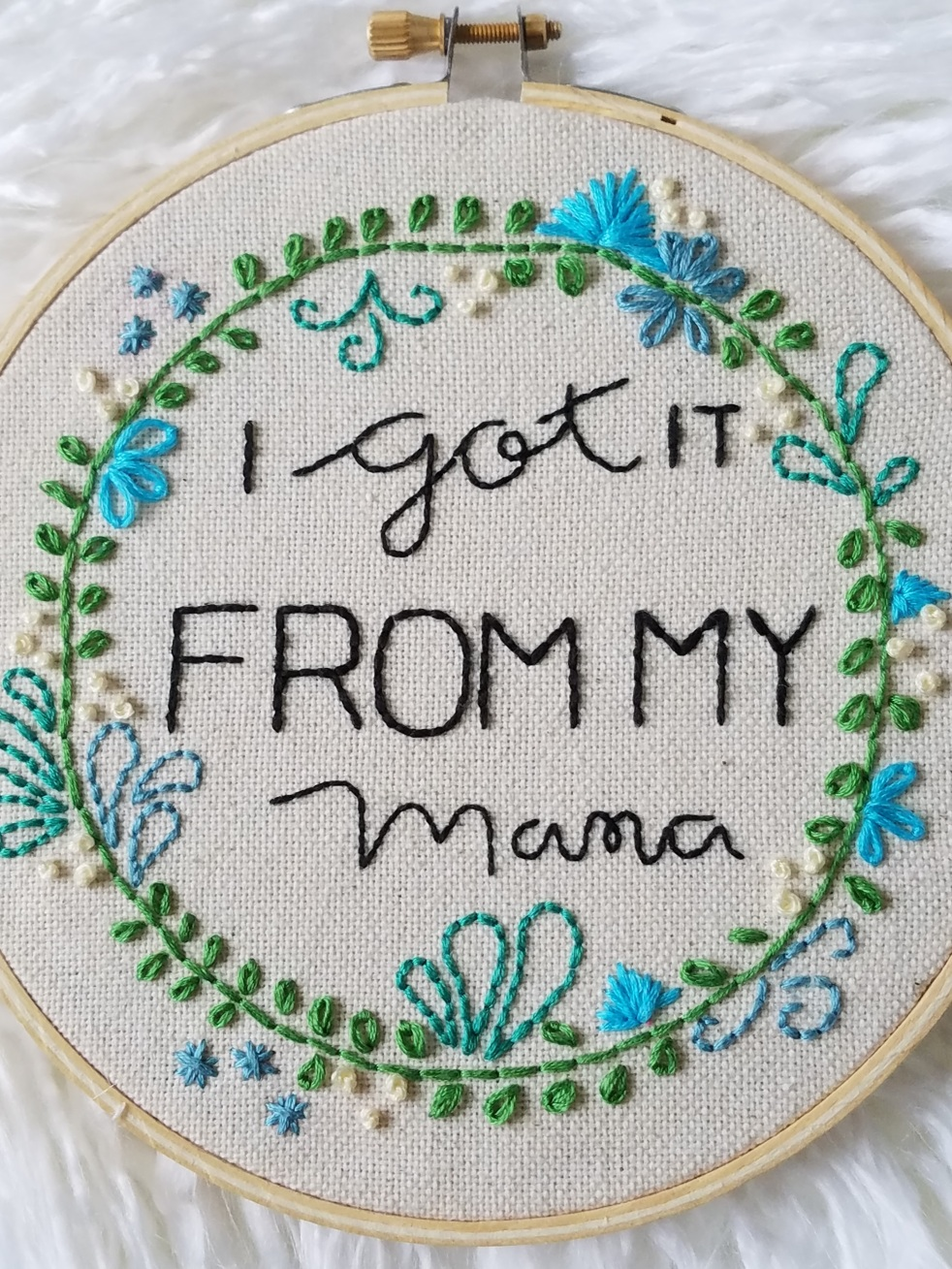 Mothers Day Gift Embroidery Hoop - DIY mother's day gift