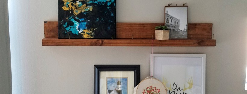 industrial chic picture ledges