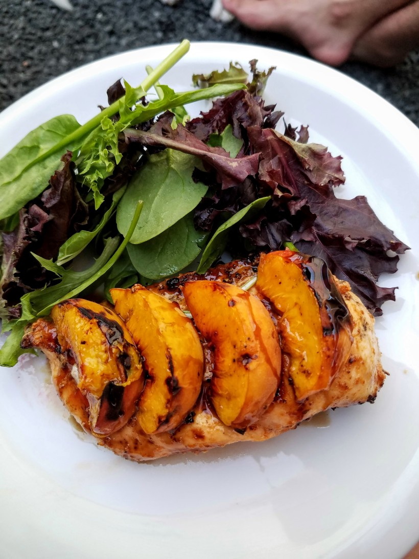 Grilled Peach Balsamic Chicken