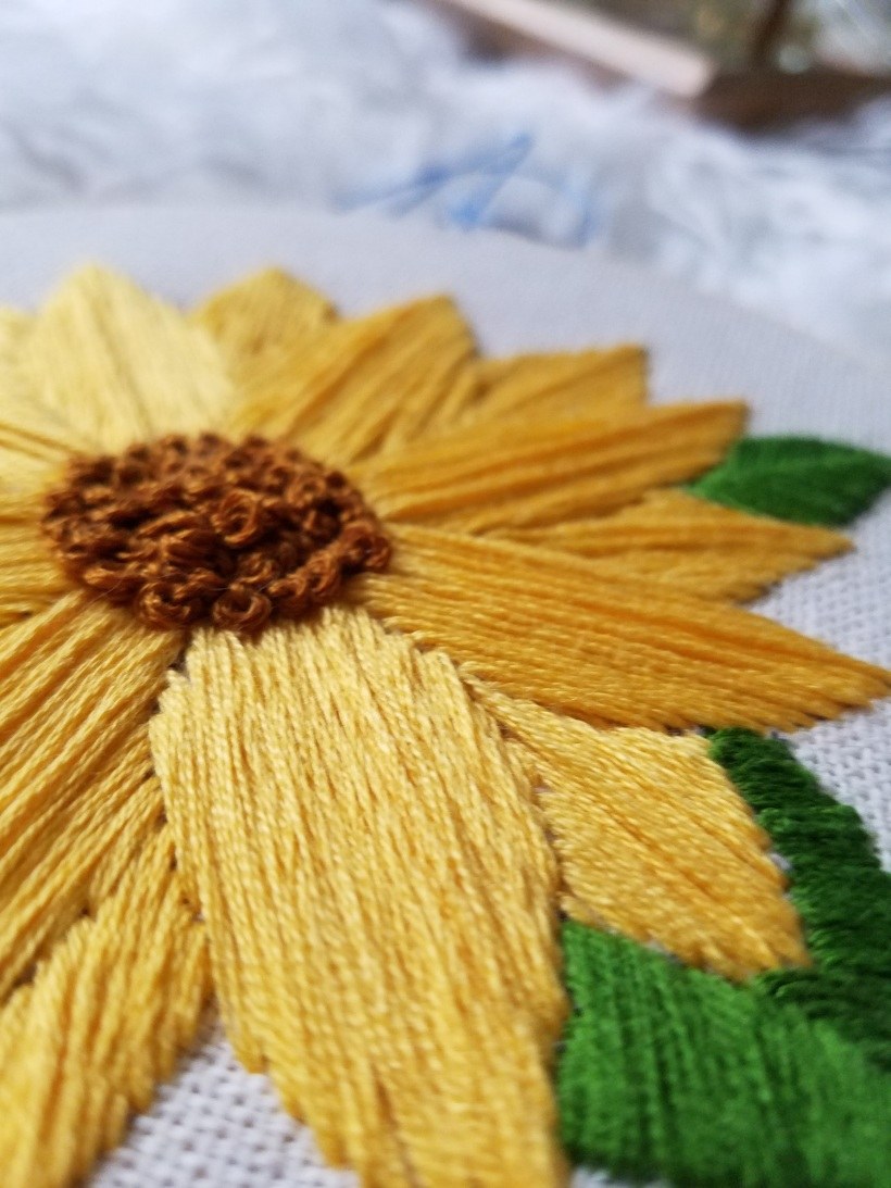Sunflower embroidery Hoop free template