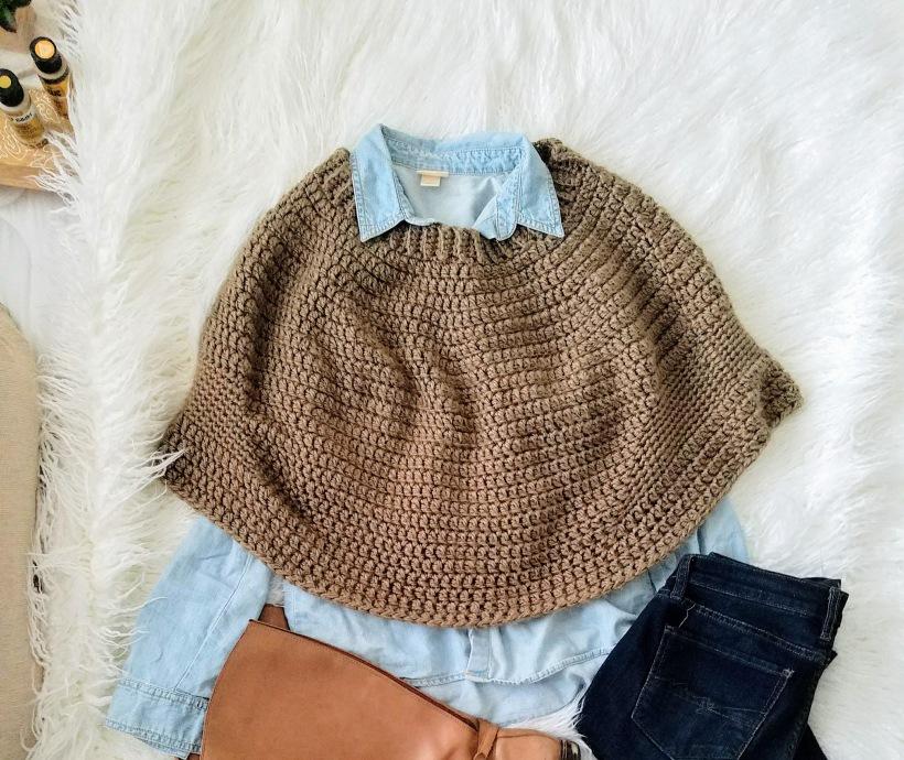 Knit Crochet Poncho