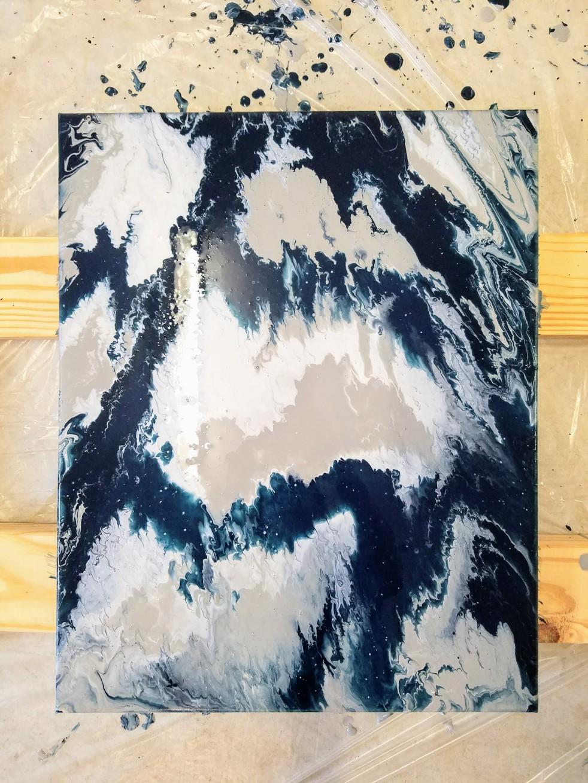 DIY Abstract Art Fluid Acrylic Painting