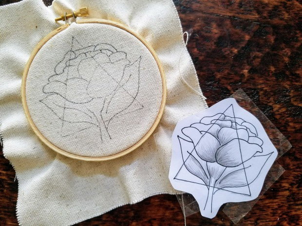 DIY Flower Embroider Template
