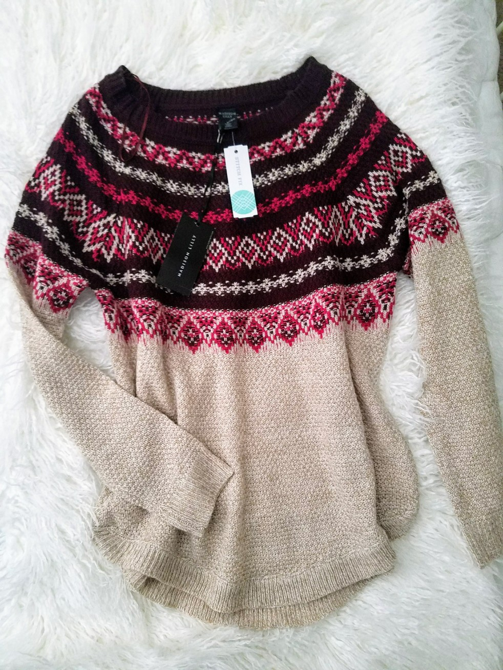 MADISON LILY Ethan Fair Isle Pullover $46 Stitch Fix